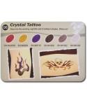 Art Glitter tartós csillámtetoválás szett - Christal Tatoo színkollekció