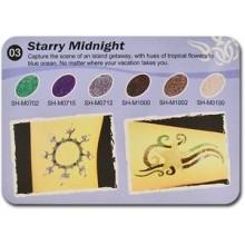Art Glitter tartós csillámtetoválás szett - Starry Midnight  rszínkollekció